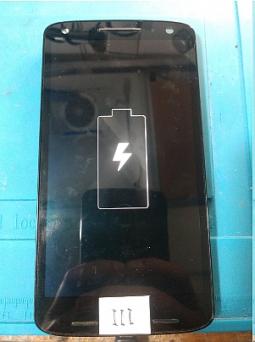Экран (дисплей) Motorola Droid Turbo 2 дефектный (пропаяный шлейф) B-сток