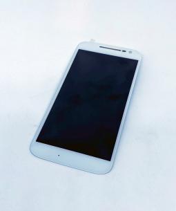 Дисплей (экран) Motorola Moto G4 белый - фото 2