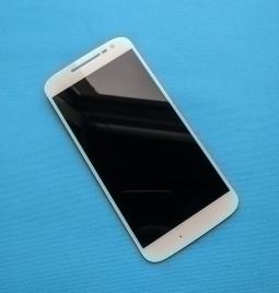 Дисплей (экран) Motorola Moto G4 (А-сток) белый с разборки