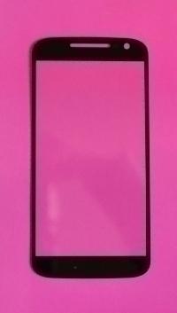Линза (стекло) Motorola Moto G4 черная
