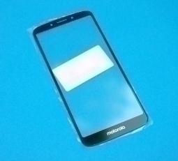 Стекло для ремонта LCD Motorola Moto E5 чёрное