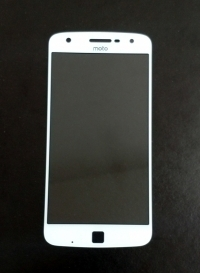 Линза (стекло) Motorola Moto Z Play белая