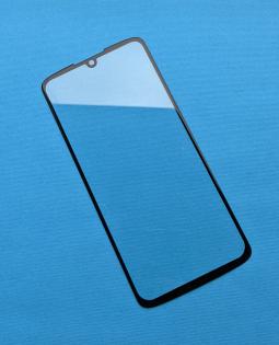 Стекло для ремонта экрана (линза) Motorola Moto Z4 чёрная