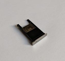 Сим лоток Motorola Moto X Play серебро - изображение 2