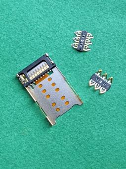 Сим коннектор Motorola Moto Z Droid оригинал с разборки