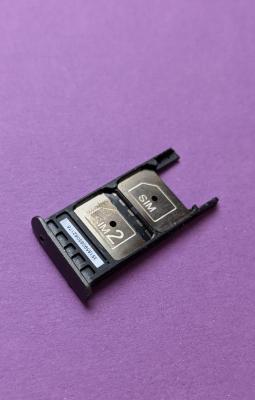 Сим лоток Motorola Moto G5 Plus серый (2 симки)