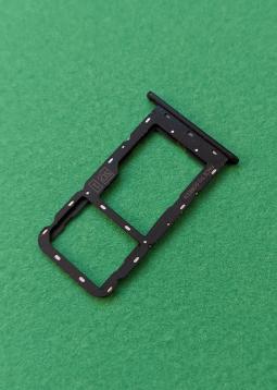 Сим лоток Motorola Moto G7 Play чёрный (1 симка)
