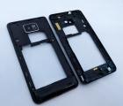 Динамик бузер Samsung Galaxy S2 (i777 / i9100) в рамке + стекло камеры