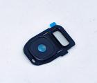Стекло на камеру Samsung Galaxy S7 Edge чёрная рамка