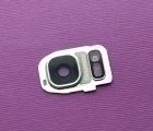 Стекло на камеру Samsung Galaxy S7 Edge серебро