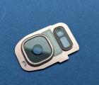 Стекло камеры Samsung Galaxy S7 розовый кант