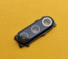 Стекло камеры Xiaomi Mi 9 Se чёрное в рамке