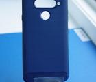Чехол LG V40 hybrid синий