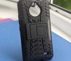 Чехол Motorola Moto E4 (Европа) чёрный военный с ножкой