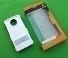 Чехол Motorola Moto E4 США Ondigo белый с ножкой