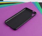 Чехол Motorola Moto E6 чёрный матовый - фото 4