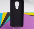 Чехол Motorola Moto E7 Plus чёрный матовый - фото 2