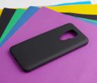 Чехол Motorola Moto E7 Plus чёрный матовый - фото 3