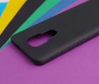 Чехол Motorola Moto E7 Plus чёрный матовый - фото 4