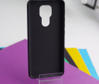 Чехол Motorola Moto G9 чёрный матовый - фото 3