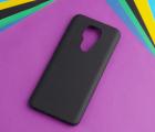 Чехол Motorola Moto G9 чёрный матовый - фото 4