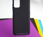 Чехол Motorola Moto G9 Plus чёрный матовый - фото 3