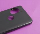 Чехол Motorola One Hyper чёрный матовый - фото 4