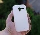 Чехол Motorola Moto X белый пластик