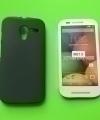 Чехол Motorola Moto X черный силикон