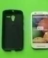 Чехол Motorola Moto X черный силикон - изображение 2
