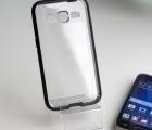 Чехол Samsung Galaxy Core Prime прозрачный с чёрным кантом