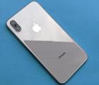 Корпус + крышка Apple iPhone X серебро + белый оригинал B-сток