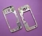 Рамка корпус метал Samsung Galaxy S6 g920v США золото А-сток