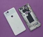 Корпус крышка Google Pixel 2 C-сток со стеклом камеры белый