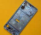 Рамка боковая (корпус) Huawei P30 голубая (Aurora) А-сток