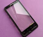 Сенсор в рамке Motorola Motoluxe (XT615) чёрный