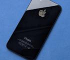 Крышка Apple iPhone 4 GSM чёрная А-сток