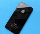 Крышка Apple iPhone 4s чёрная C-сток в царапинах