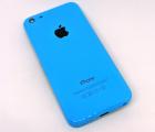 Крышка (корпус) Apple iPhone 5c синяя А-сток