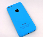 Крышка (корпус) Apple iPhone 5c голубая B-сток