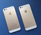 Крышка Apple iPhone 5s золотой корпус А-сток