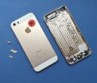 Крышка Apple iPhone 5s золотой корпус B-сток