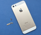 Крышка Apple iPhone 5s золотой корпус C-сток