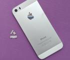 Крышка Apple iPhone 5s серебро корпус B-сток