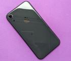 Крышка (корпус) Apple iPhone XR чёрный А-сток