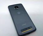 Крышка корпус Motorola Moto Z2 Play + стекло камеры (C-сток) серый