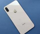 крышка корпус Apple iPhone XS Max белая серебро B-сток