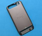 Крышка (корпус) HTC One V серый B-сток