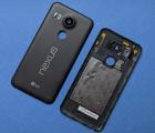 Крышка Google Nexus 5X чёрная + стекло камеры (А-сток)