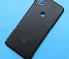 Крышка (корпус) Google Pixel 4a оригинал чёрный (A-сток)
